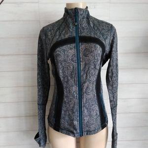 Lululemon athletica gray/Green full zip jacket